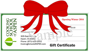 Cooking School of Aspen Gift Certificate